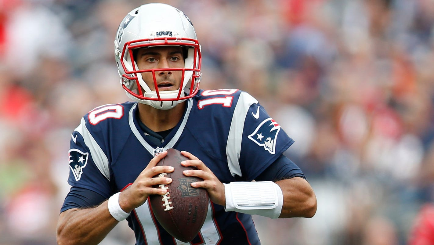 jimmy garoppolo 39 s injury leaves patriots with qb question. Black Bedroom Furniture Sets. Home Design Ideas