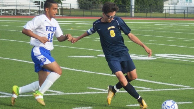 Saddle Brook junior Pasquale Stefano (8) was named second team all-division.