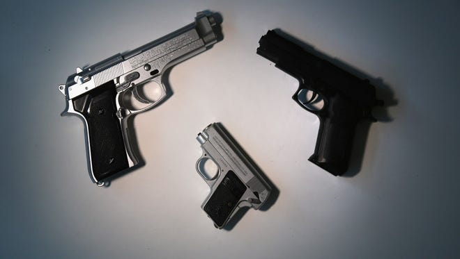Toy guns confiscated at JFK airport last month.