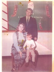 Russell and Jackie Foote take a school picture with son, Kevin, in the early 1970s.