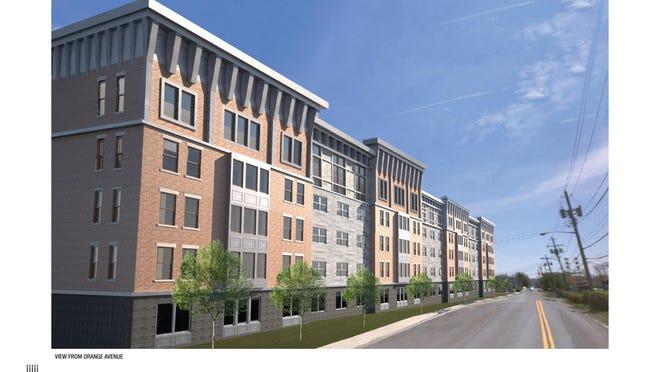 Rendering of Orange Avenue Apartments in Suffern.