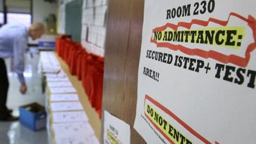 The House Education Committee on Tuesday, Jan. 26, 2016, gave the Indiana State Board of Education a choice on whether to move forward with a rescore of the 2015 ISTEP.