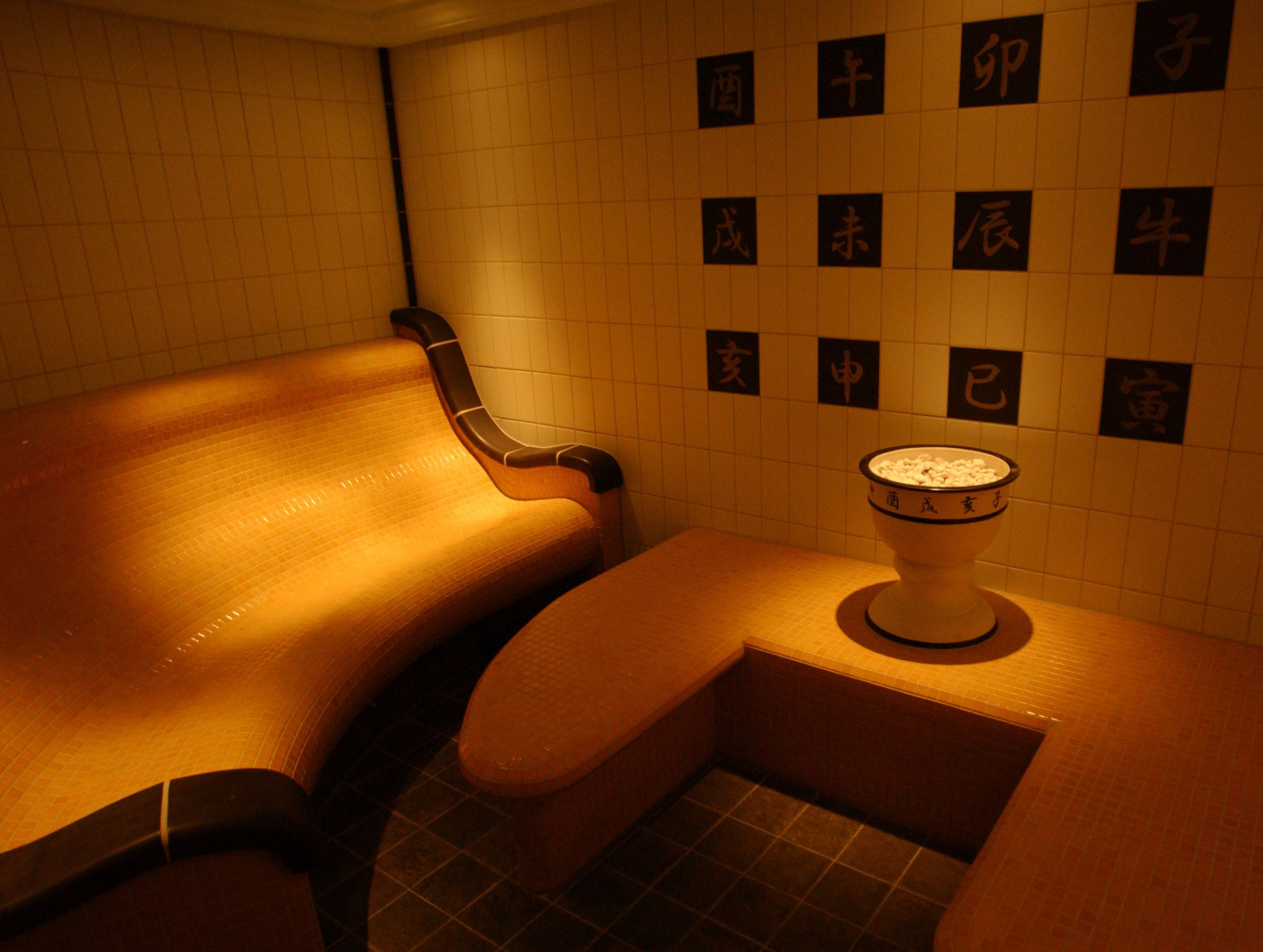 The Caribbean Princess' Lotus Spa includes an intimate sauna onboard.