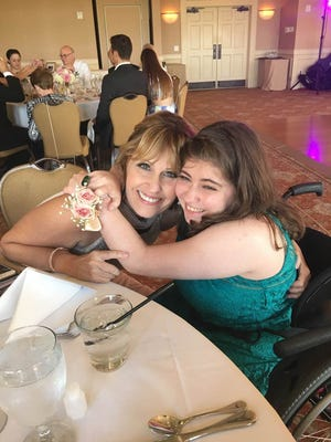 Nancy Sovran and her daughter Hope at a family wedding in 2015.