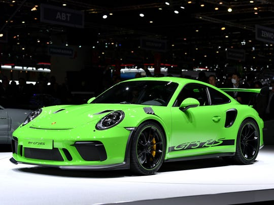 The new Porsche 911 GT3 RS is displayed at the car