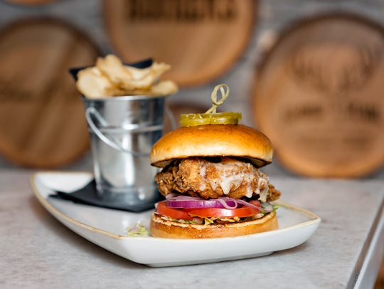 Buttermilk Fried Chicken Sandwich at Books and Bourbon