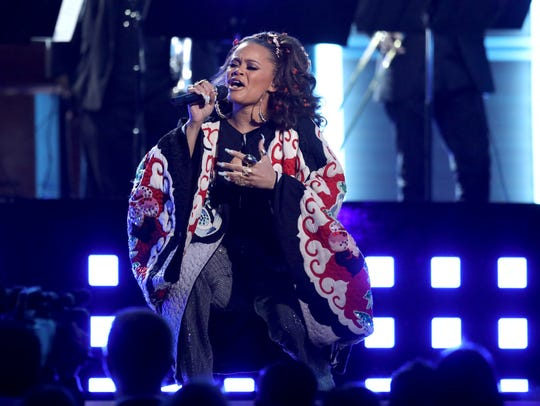 Andra Day performs a tribute to the Bee Gees at the