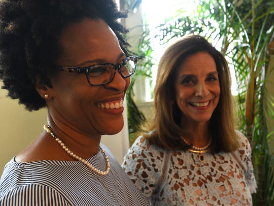 Mary Alice Rountree (right) at her retirement reception