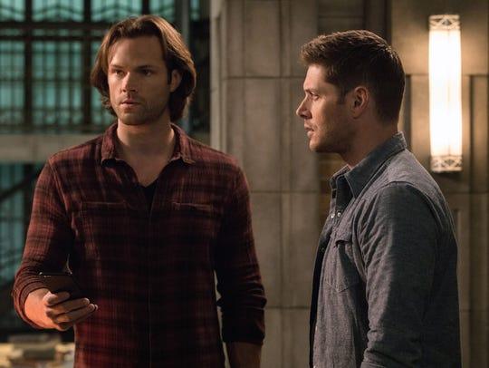 Jared Padalecki (left) and Jensen Ackles in 'Supernatural.'