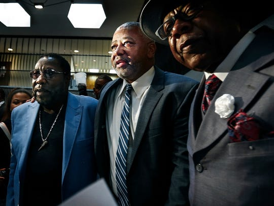 Memphis native and boxing promoter Sam Watson, (middle)