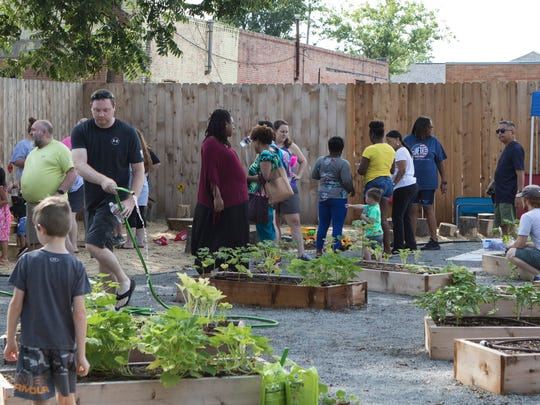 Origin Bank is the sponsor of the Origin Bank Family Garden at the Children's Coalition. The raised-bed garden was started in 2018 and grows fresh food for Early Head Start centers. File photo