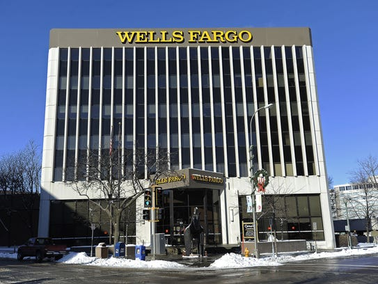 Wells Fargo Bank in downtown Sioux Falls.
