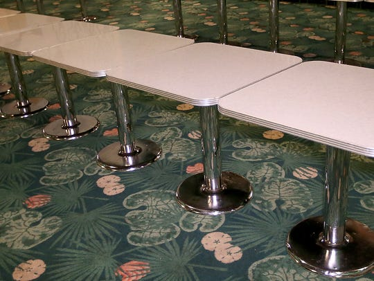 Tables that will be for sale in the Admiral Theatre's