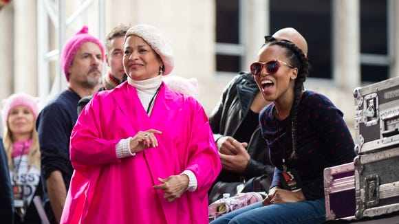 Debbie Allen, left, and Kerry Washington at the women's
