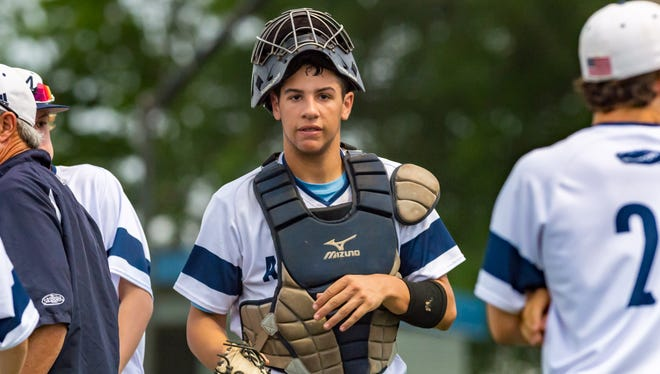 Ascension catcher Austin Arceneaux came up big at the plate and behind the plate in the Blue Gators' 4-3 win over Newman on Saturday.