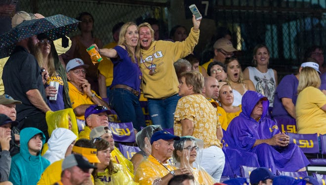 Tiger fans enjoying the game as LSU takes on Ole Miss at Tiger Stadium. Saturday, Sept. 29, 2018.