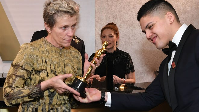 Best Actress laureate Frances McDormand attends the 90th Annual Academy Awards Governors Ball at the Hollywood & Highland Center in Hollywood.