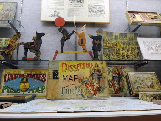 The Ross County Historical Society has a large display