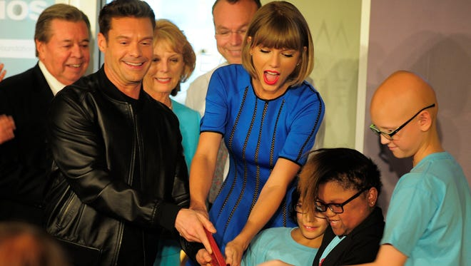 Ryan Seacrest opens a radio and recording studio in the Monroe Carell Jr. Children's Hospital at Vanderbilt with special guest Taylor Swift on Friday, March 18, 2016.