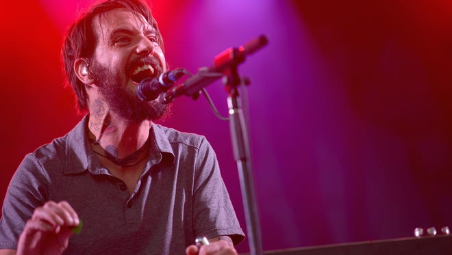 Ben Bridwell of Band of Horses performs at Firefly Music Festival  in Dover June 20, 2014.
