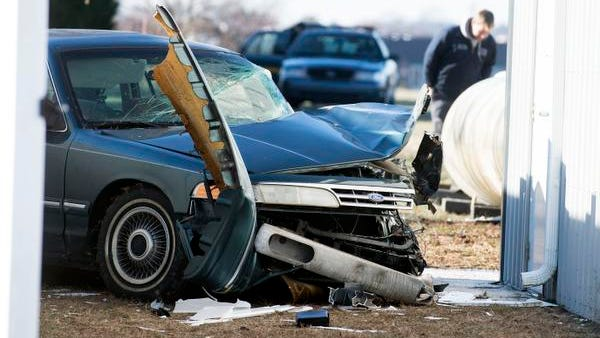 A 91-year-old man died Thursday when his Ford Crown Victoria hit a propane tank, causing it to leak behind the American Legion off Del. 24 and Legion Road near Oak Orchard.