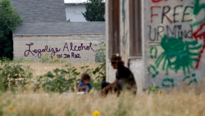 At the Pine Ridge Indian Reservation in Whiteclay, Neb.