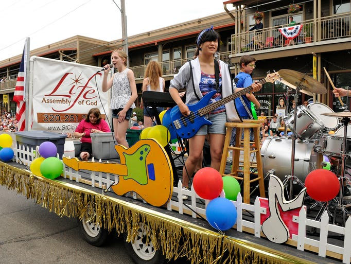 The Kidz Jam band from Life Assembly of God Church plays in the St. Joseph parade on Friday, July 4.