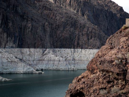 Lake Mead, seen on May 22, 2014, is now down to 37