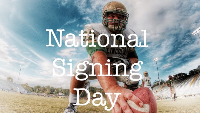 National signing day is Wednesday, Feb. 3. Pictured: Lincoln junior Tom Moss.