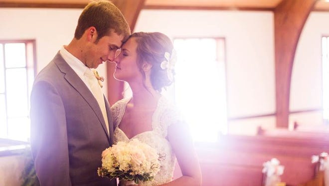 Lauren and Brice Cordell's wedding ceremony was held at the Providence Missionary Baptist Church in Seymour, Tenn.