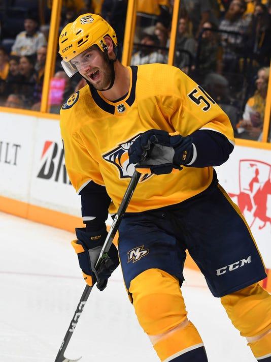 NHL: Preseason-Columbus Blue Jackets at Nashville Predators