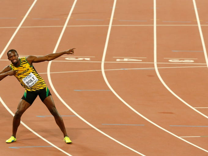 Usain Bolt wins 100-meter gold at World Championships