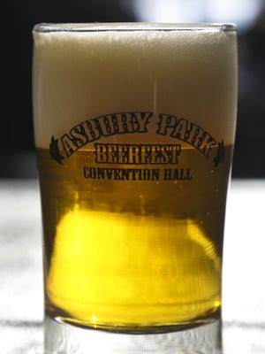 A glass of beer from the 2016 Asbury Park Beerfest at Convention Hall, Asbury Park.