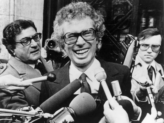 Ken Taylor, Canadian Ambassador to Iran, laughs as