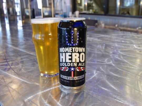 A portion of the proceeds from Triton Brewing Company's Hometown Hero Golden Ale goes to help local veterans, police and firefighters.