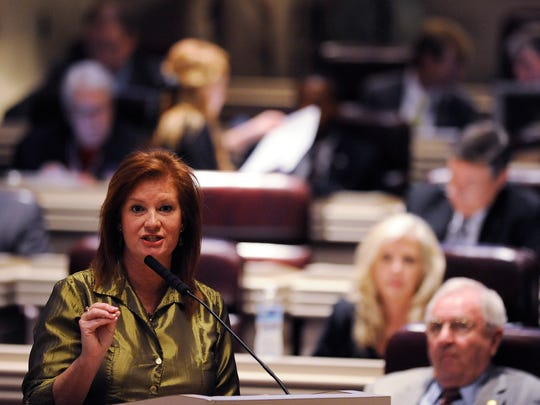 Rep. Terri Collins, R-Decatur, seen here in 2015, filed legislation Tuesday that would outlaw abortion throughout the state.