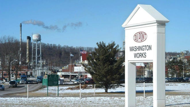 DuPont's Washington Works plant in Parkersburg, West Virginia, is shown. The plant has since been transferred to Chemours.
