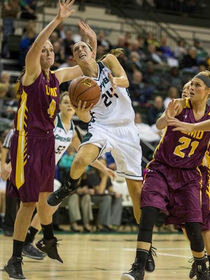 UWGB point guard Allie LeClaire is averaging a team-high 13.8 points per game.