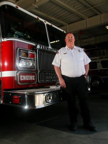 Farmington Fire Chief David Burke poses for a portrait,