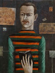 """John Wilde painted this self-portrait """"Myself as a Reader"""" in 1941."""