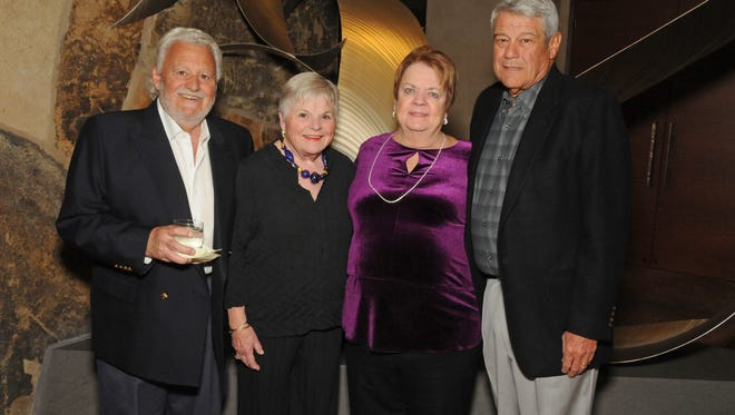 1. Coachella Valley Volunteers in Medicine Wine Lover's Auction co-chairs Bob Lucurell and Joe Gandolfo, and their wives Lynn and Sandy.