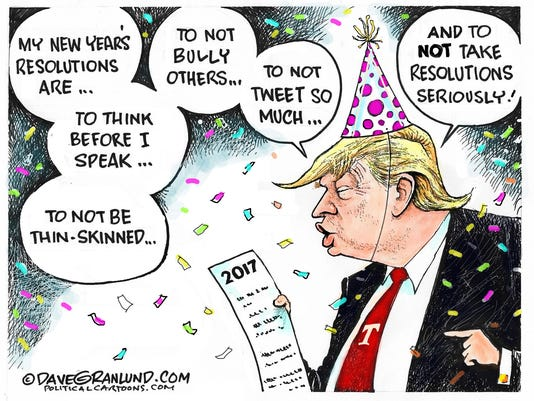 Cartoon: Trump New Year resolution