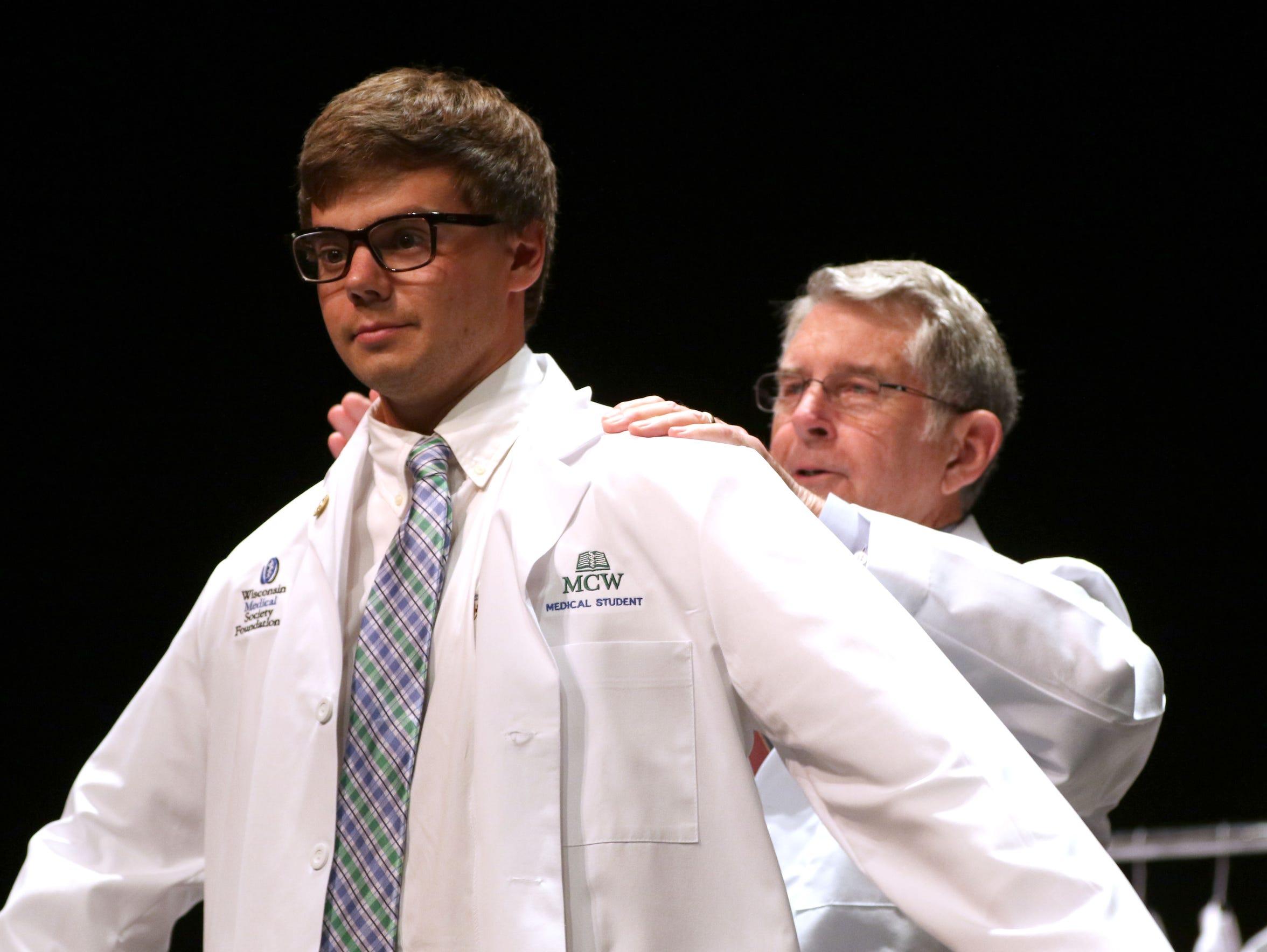 Forrest Ericksen is coated during the Medical College