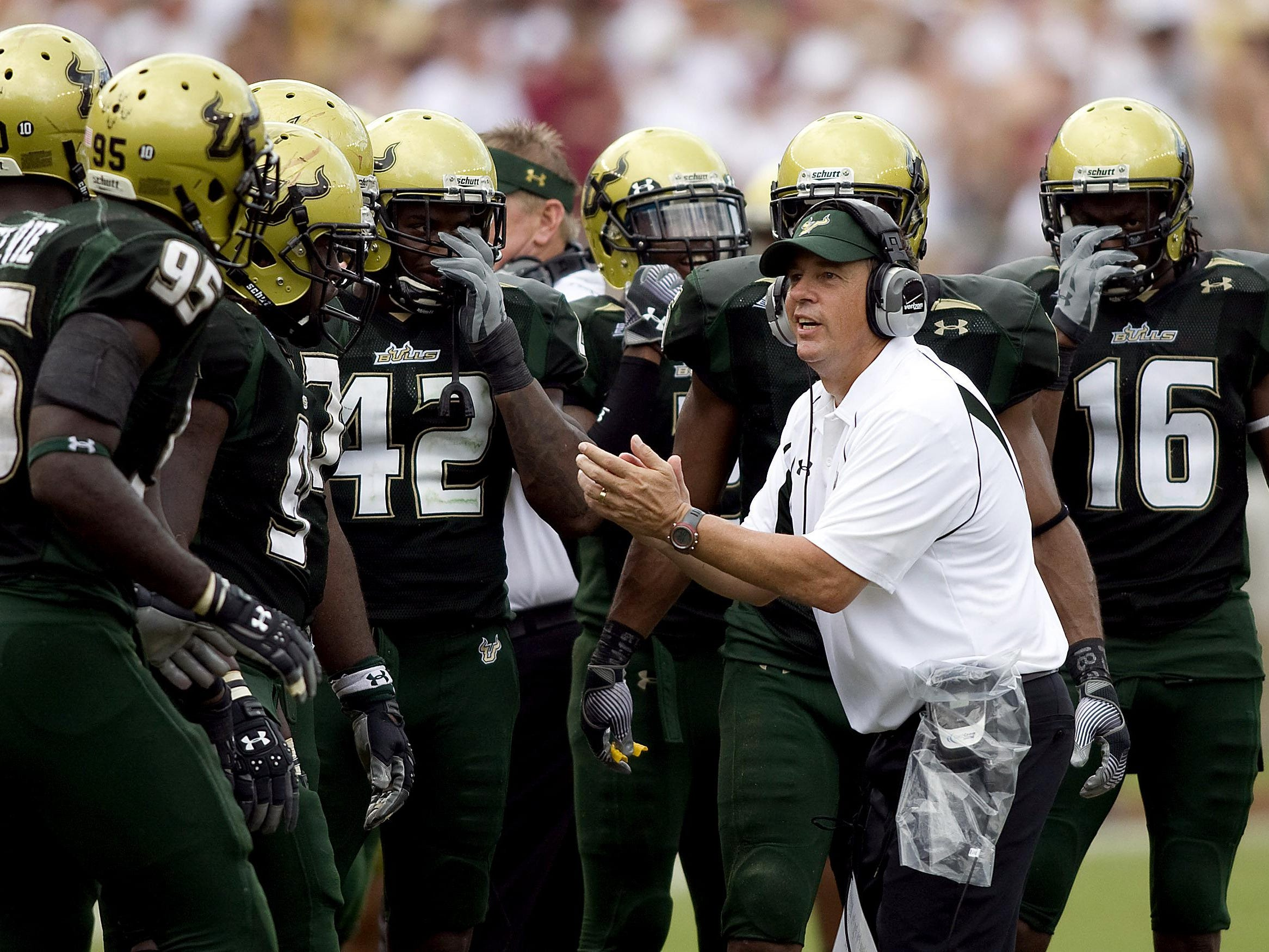 Joe Tresey, pictured as the defensive coordinator at South Florida in 2009, is the new athletic director at Clear Fork.