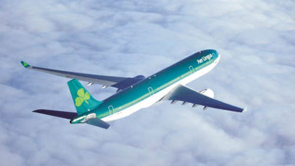 An undated file photo of an Aer Lingus Airbus A330.