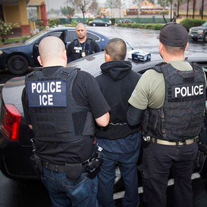 Immigration and Customs Enforcement arrest in Los Angeles