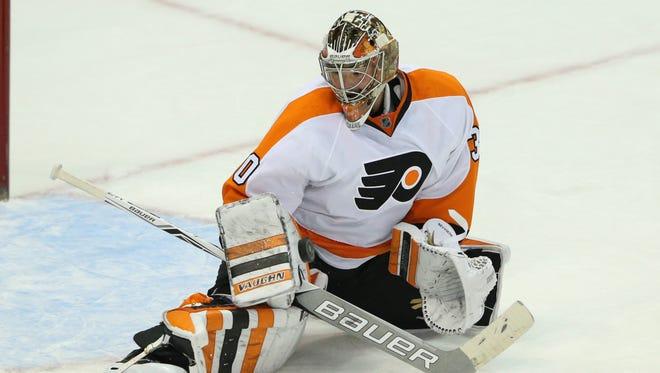 Flyers goalie Michal Neuvirth  returned to action Thursday night.