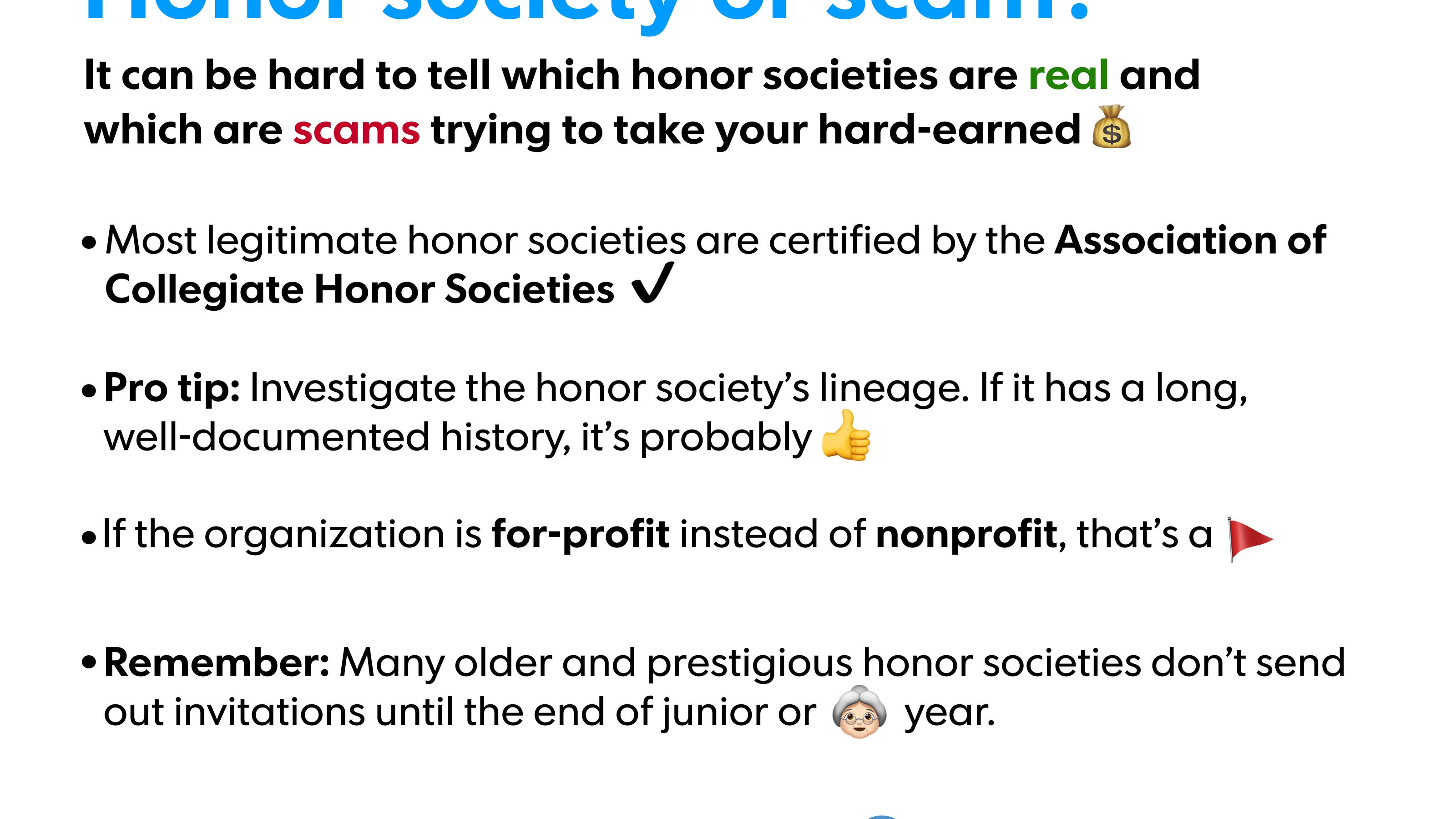 How To Tell Sketchy Honor Societies From Legitimate Ones
