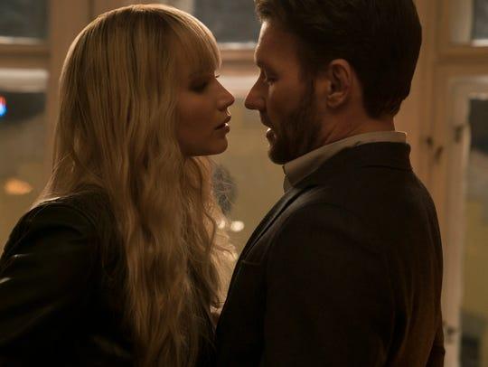 Dominika (Jennifer Lawrence) and Nate (Joel Edgerton)
