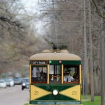 The historic trolley travels west on Mountain Avenue in Old Town Fort Collins in this file photo. Waterline replacement will close a stretch of westbound Mountain starting Monday.